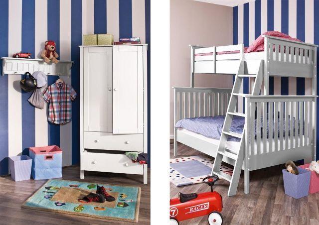 Łóżko piętrowe z drabinką do pokoju dziecięcego
