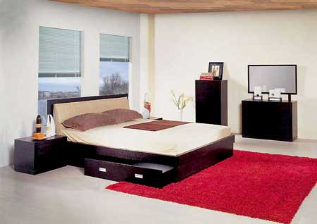 Projekty Sypialnie łóżko z szufladami